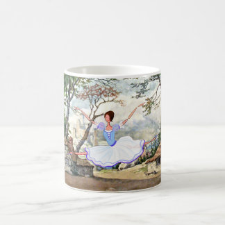 GISELLE BALLET RUSSES ,  HAPPY, JUMPING, DANCING MAGIC MUG