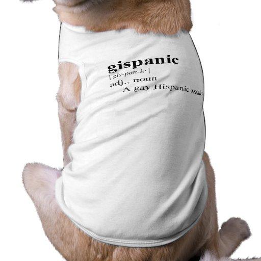 GISPANIC PET T SHIRT