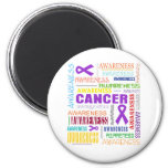 GIST Cancer Awareness Collage Refrigerator Magnets