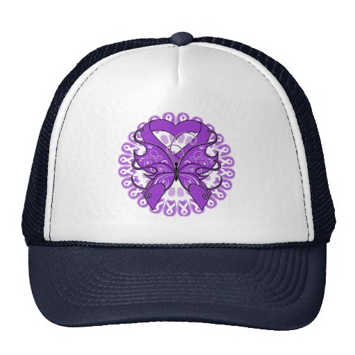 GIST Cancer Butterfly Circle of Ribbons Trucker Hats