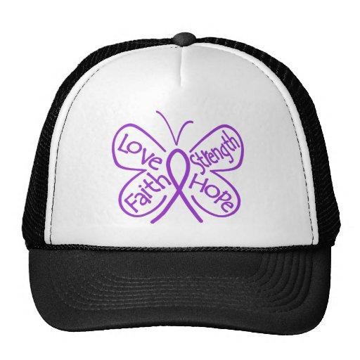 GIST Cancer Butterfly Inspiring Words Mesh Hats