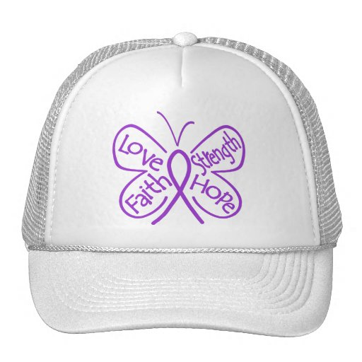 GIST Cancer Butterfly Inspiring Words Hats