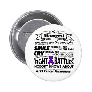 GIST Cancer Cancer Strongest Among Us Pinback Button