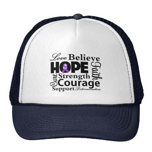 GIST Cancer Collage of Hope Mesh Hat