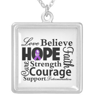GIST Cancer Collage of Hope Personalized Necklace