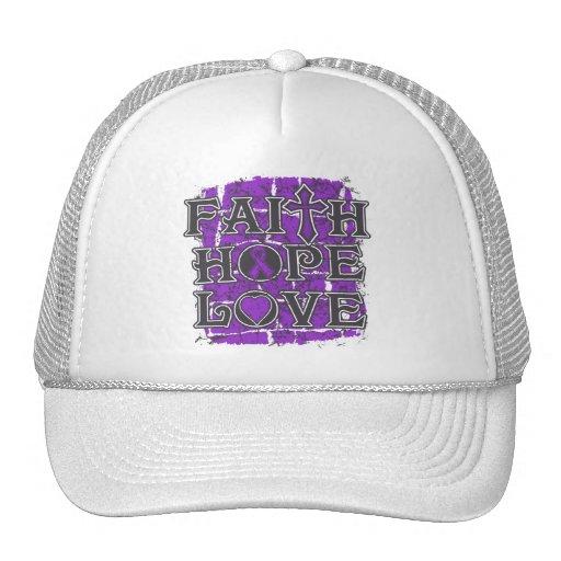 GIST Cancer Faith Hope Love Mesh Hats