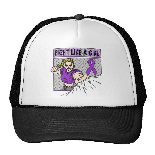 GIST Cancer Fight Like A Girl Punch Mesh Hats