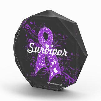 GIST Cancer Floral Swirls Ribbon Awards