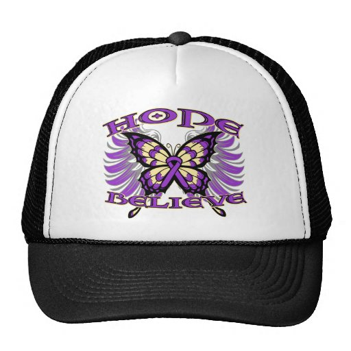 GIST Cancer Hope Believe Butterfly Mesh Hats