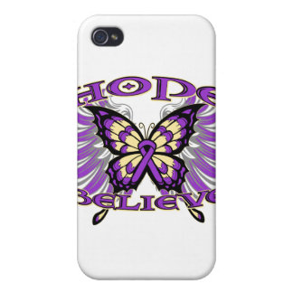 GIST Cancer Hope Believe Butterfly Covers For iPhone 4