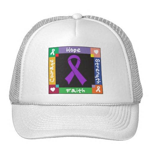 GIST Cancer Hope Strength Faith Trucker Hat