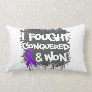 GIST Cancer  I Fought Conquered Won Throw Pillows
