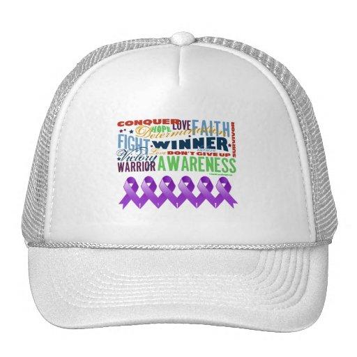 GIST Cancer Inspirational Words Trucker Hats