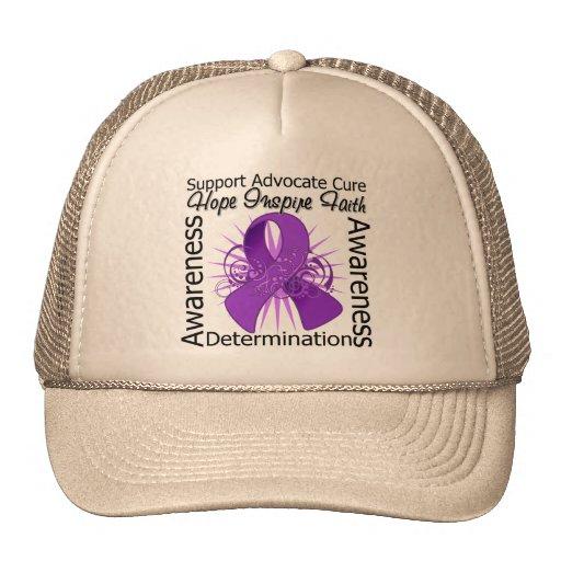 GIST Cancer Inspirations Spiral Ribbon Trucker Hats