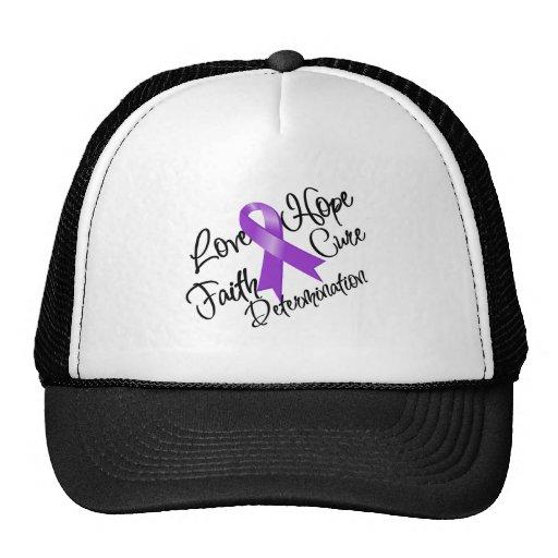 GIST Cancer Love Hope Determination Hat