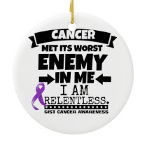 GIST Cancer Met Its Worst Enemy in Me Ceramic Ornament