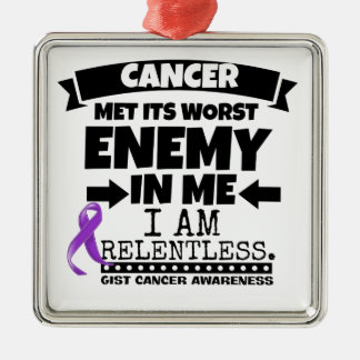 GIST Cancer Met Its Worst Enemy in Me Metal Ornament