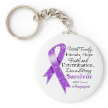 GIST Cancer Support Strong Survivor Keychain