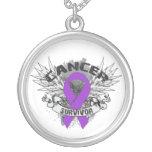 GIST Cancer Survivor Grunge Winged Jewelry