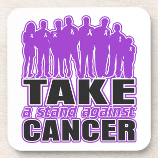 GIST Cancer - Take A Stand Against Cancer Beverage Coasters