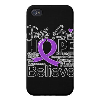 GIST Cancer Typographic Faith Love Hope Case For iPhone 4