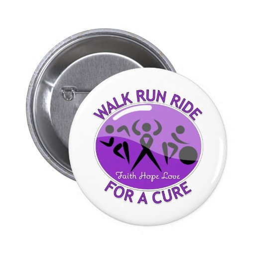 GIST Cancer Walk Run Ride For A Cure Pinback Button