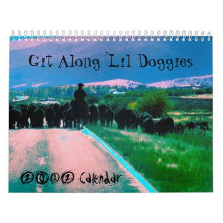 Git a lo largo de los perritos de Lil, calendario