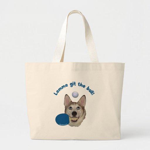 Git el perro del ping-pong de la bola bolsa de mano