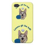 Git el perro del ping-pong de la bola iPhone 4 protectores