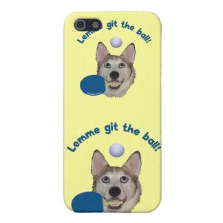 Git el perro del ping-pong de la bola iPhone 5 cobertura