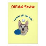 Git el perro del ping-pong de la bola invitación 12,7 x 17,8 cm