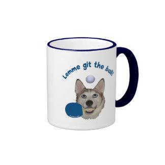 Git el perro del ping-pong de la bola taza a dos colores