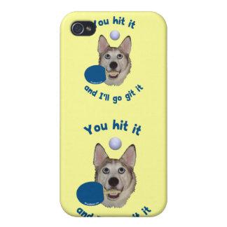 Git él perro del ping-pong iPhone 4 protector