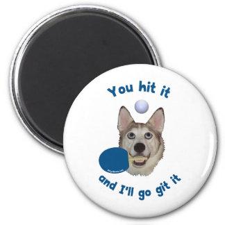 Git It Ping Pong Dog Refrigerator Magnets