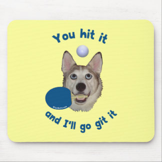 Git It Ping Pong Dog Mouse Pad