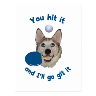 Git It Ping Pong Dog Postcard