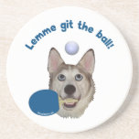 Git the Ball Ping Pong Dog Drink Coasters