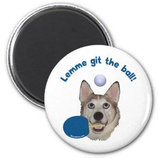 Git the Ball Ping Pong Dog Refrigerator Magnet