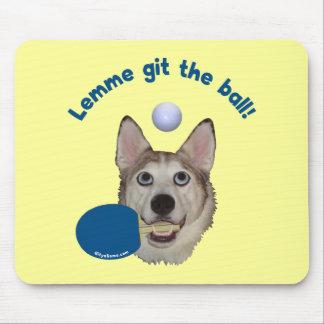 Git the Ball Ping Pong Dog Mouse Pad
