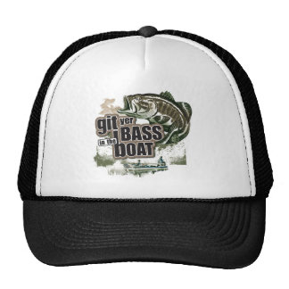 Git Yer Bass in the Boat Mesh Hat