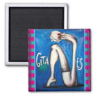 Gitanes Surreal 2 Inch Square Magnet