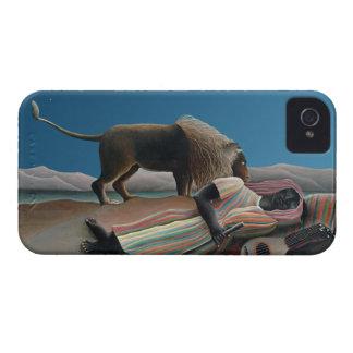 Gitano durmiente - arte del vintage de Rousseau Case-Mate iPhone 4 Carcasas