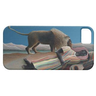 Gitano durmiente - arte del vintage de Rousseau iPhone 5 Case-Mate Carcasas