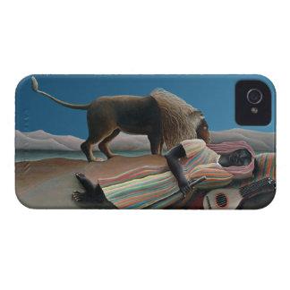 Gitano durmiente - arte del vintage de Rousseau iPhone 4 Case-Mate Cárcasas