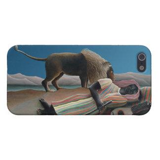 Gitano durmiente - arte del vintage de Rousseau iPhone 5 Fundas