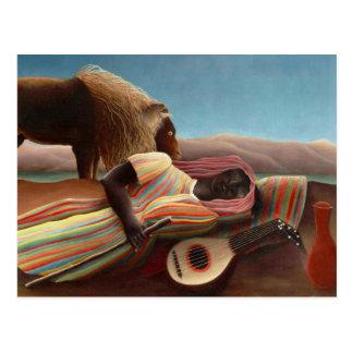 Gitano durmiente de Henri Rousseau Postales