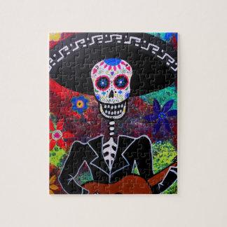 Gitarero Dia de Los Muertos Puzzle