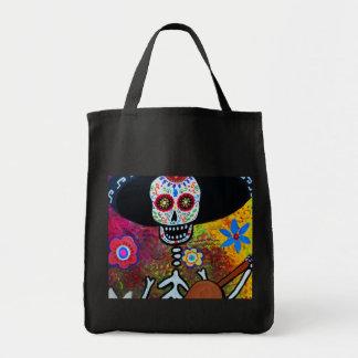 Gitarero Serenata Dia de los Muertos Tote Bag