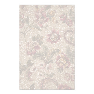 Gittery Earthtone Floral Tapestry Stationery