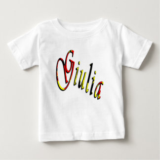 Giulia, Name, Logo, Baby Girls White T-shirt